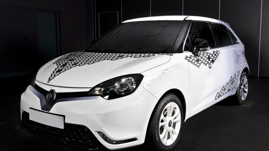 MG3 personalization concept presented during London Design Week