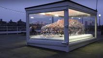 Jaguar XE word cloud sculpture