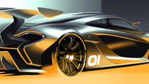 Official track-only McLaren P1 GTR render emerges