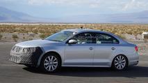 2014 Volkswagen Jetta facelift spied hiding a new face