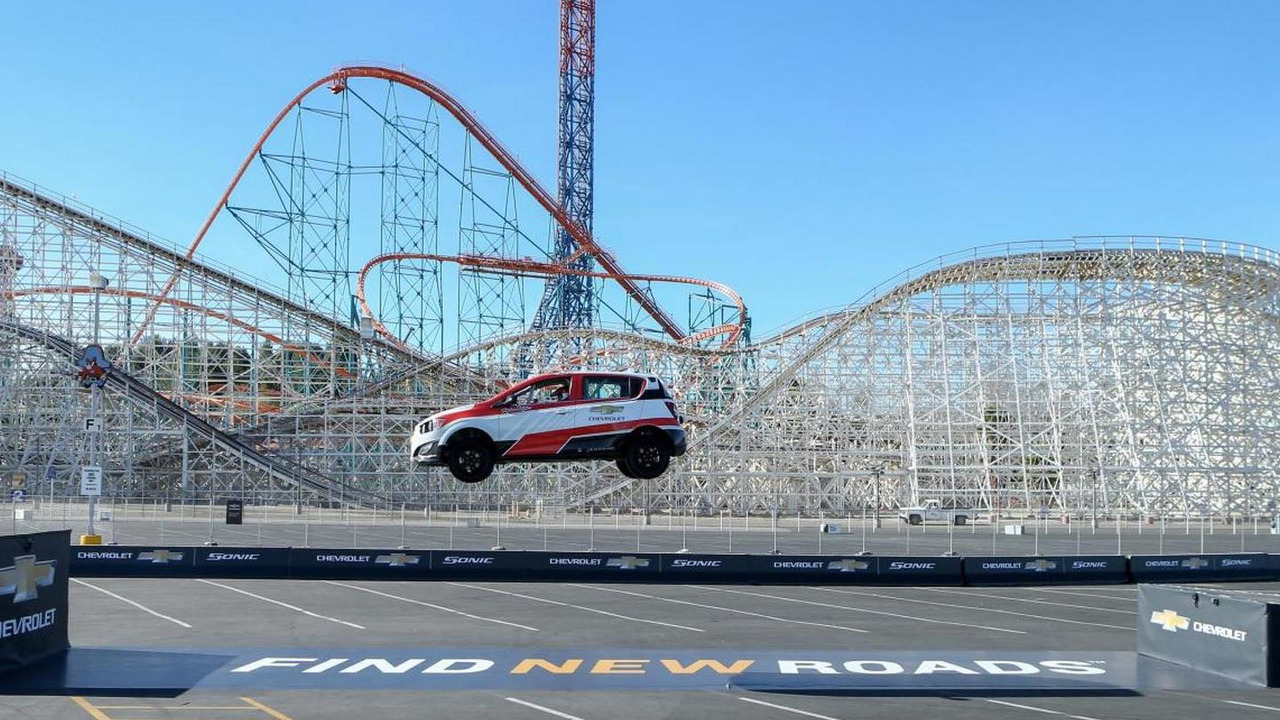 Chevrolet Sonic Farthest Reverse Ramp Jump