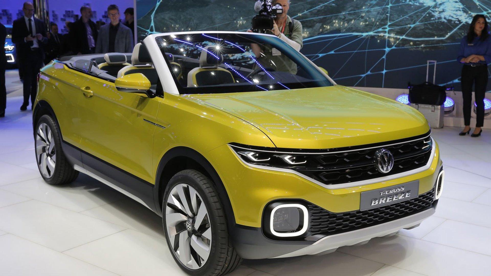 VW T-Cross Breeze concept previews small crossover cabrio