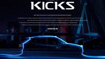 Nissan Kicks crossover side profile teased via dedicated website