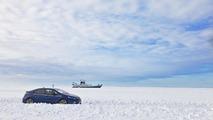 Opel Ampera at frozen Baltic Sea