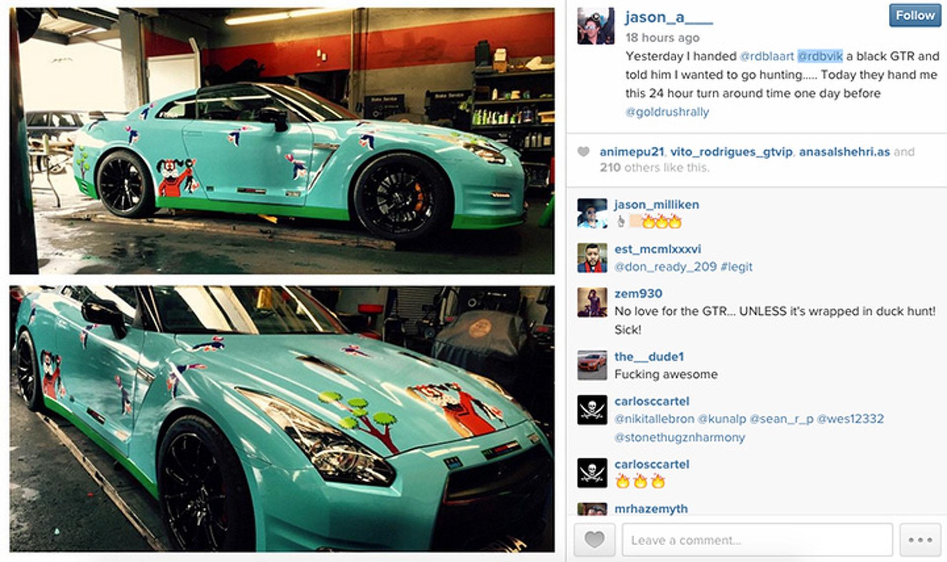 RDB LA's Duck Hunt-Wrapped Nissan GT-R Brings Back Waves of Nostalgia