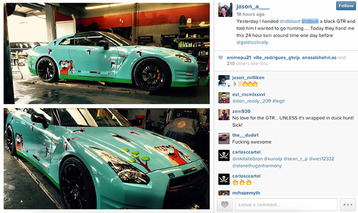 RDB LA's Duck Hunt-Wrapped Nissan GT-R Brings Back Waves of Nostalgia