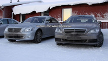 More Mercedes S-Class facelift spy photos plus AMG version
