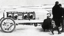 H. L. Bowden in a Mercedes with two 60 hp engines