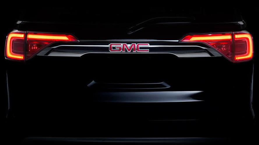 2017 GMC Acadia teased for Detroit