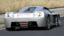 Covini C6W six wheeler supercar goes convertible - production planned