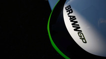White *Brawn GP* car makes F1 track debut