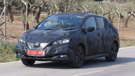 2018 Nissan Leaf Spied Hiding Sleeker Design Under Trash Bag Camo