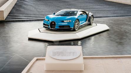 Bugatti Chiron at the Foundation Louis Vuitton