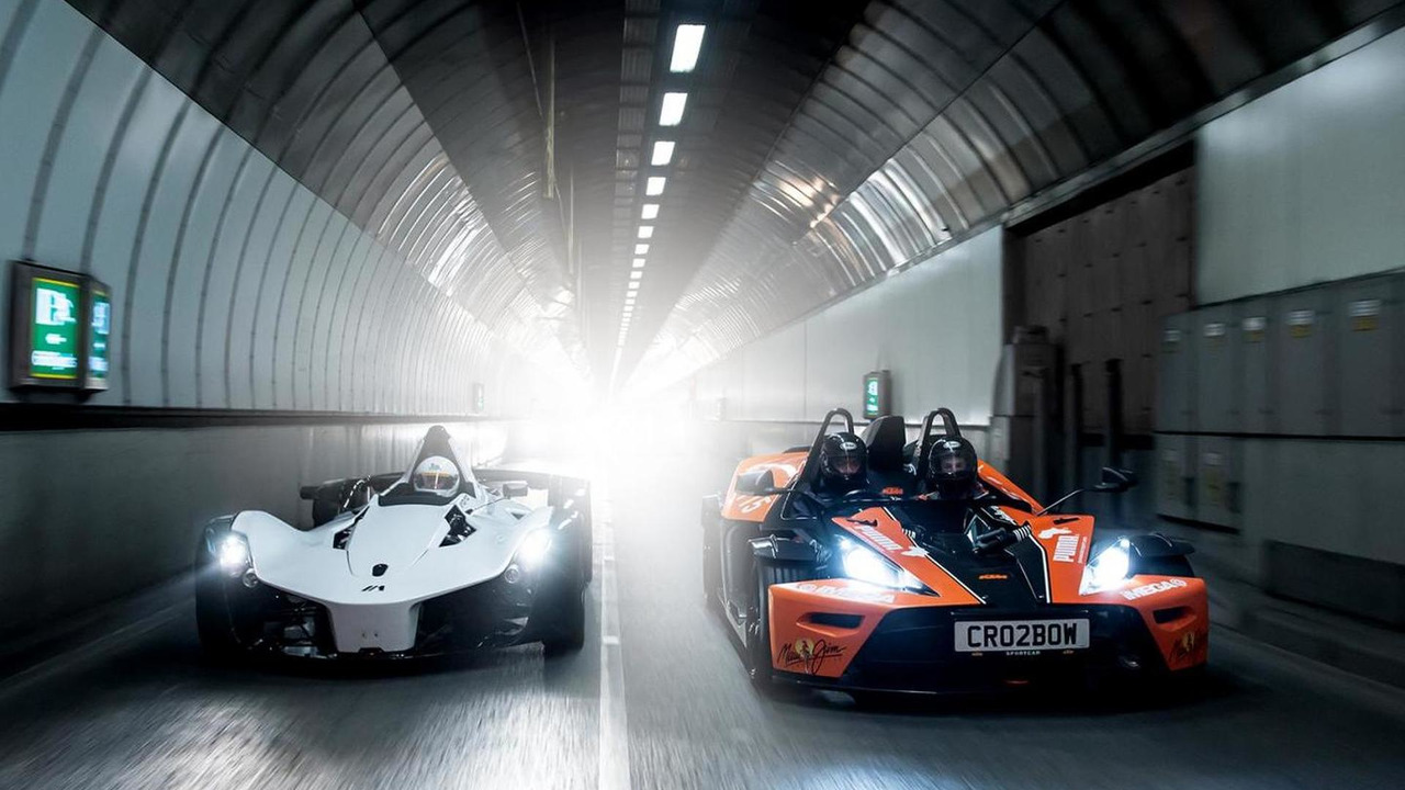 BAC Mono, Ariel Atom, KTM X-BOW and Caterham R300 trip to London