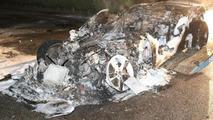Jaguar F-Type burns in Herentals, Belgium