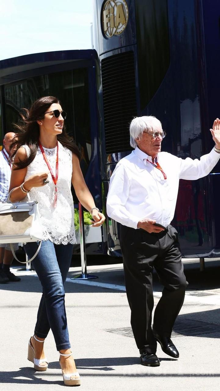 Bernie Ecclestone with his wife Fabiana Flosi
