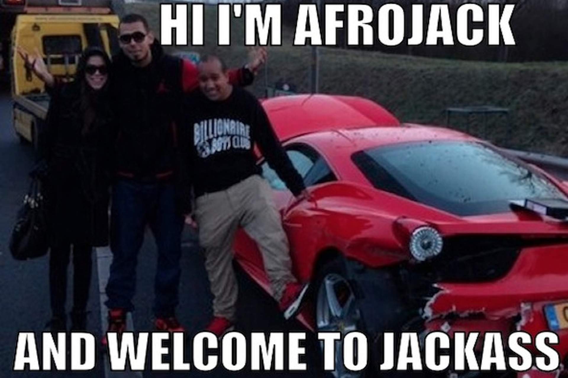 DJ Afrojack Wrecks His Ferrari 458 and Doesn't Give a Damn