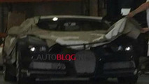 Blurry spy photo shows a heavily camouflaged Bugatti Chiron