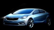 Next-gen 2014 Kia Forte / Cerato teaser renderings released