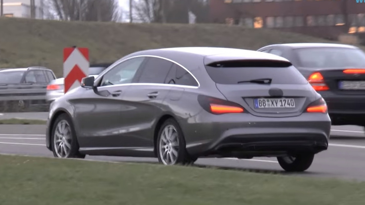 Mercedes CLA Shooting Brake screenshot from spy video