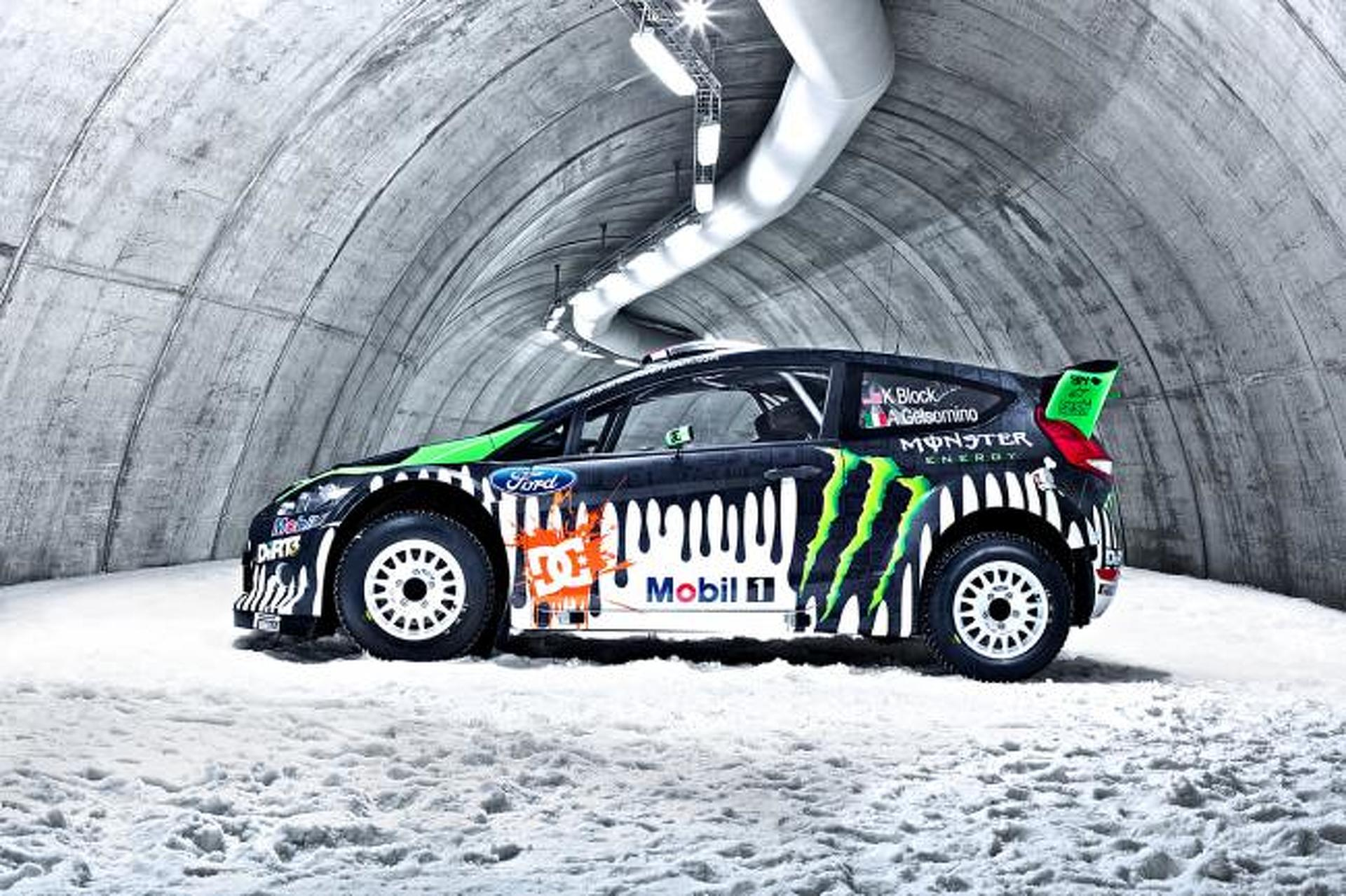 Tech ride ken block 39 s ford fiesta rs rally car for Garage energy automobiles