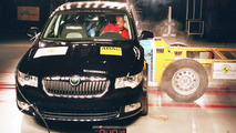 New Skoda Superb Euro-NCAP crash tests