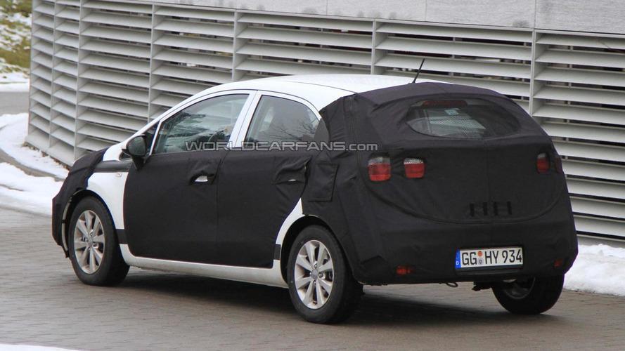 2012 Kia Rio hatchback spied