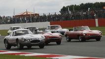 Jaguar E-Types at Silverstone Classic - 15.8.2011