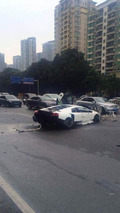 Lamborghini Murcielago SuperVeloce brutally crashed in China