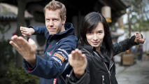 Sebastian Vettel, Celina Jade, Shanghai movie set, 1000, 12.04.2012