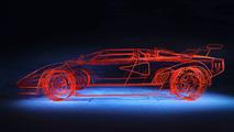 Lamborghini Countach Made of Steel Rods