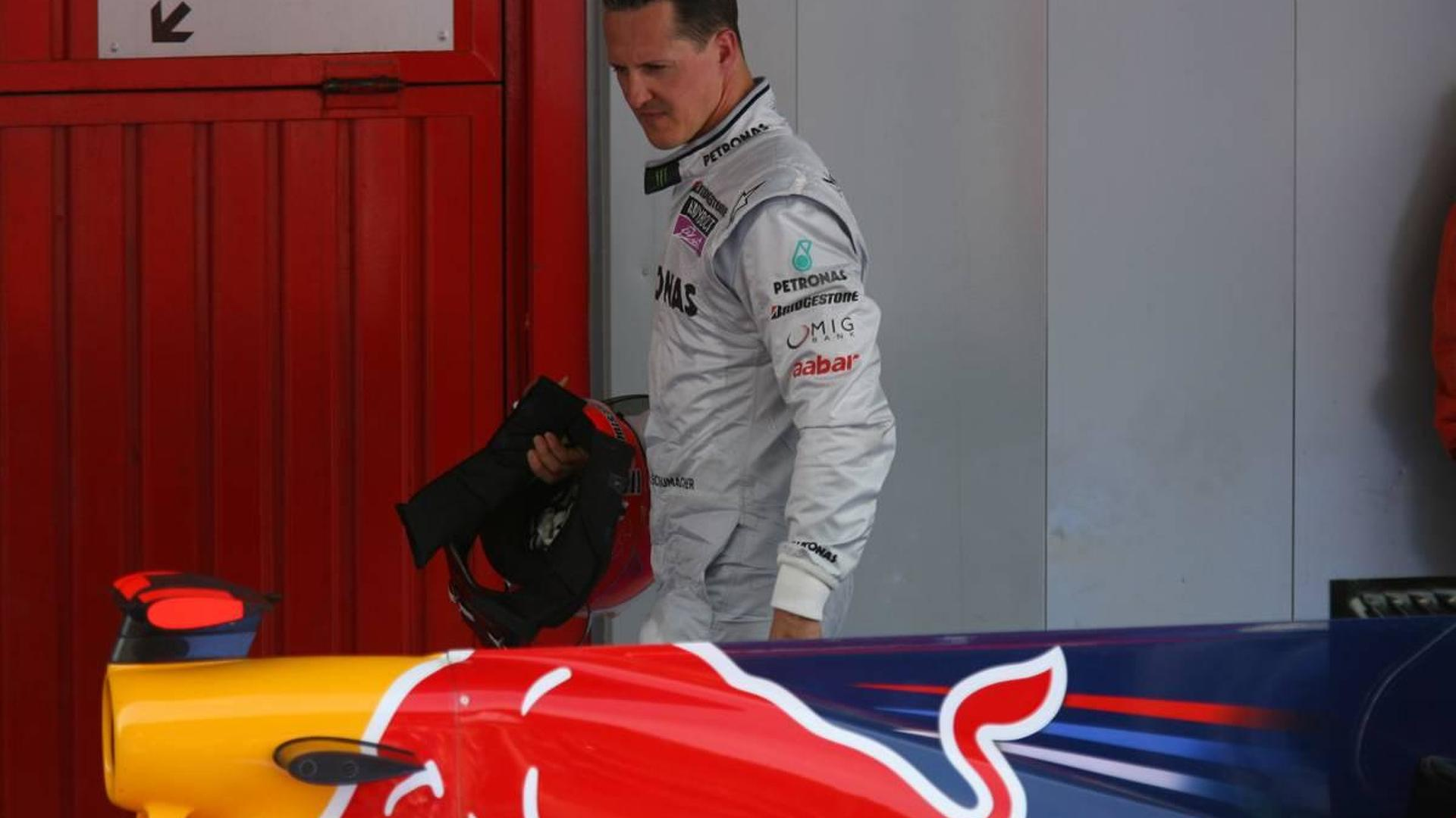 Schumacher would be winning with Red Bull car - Ecclestone