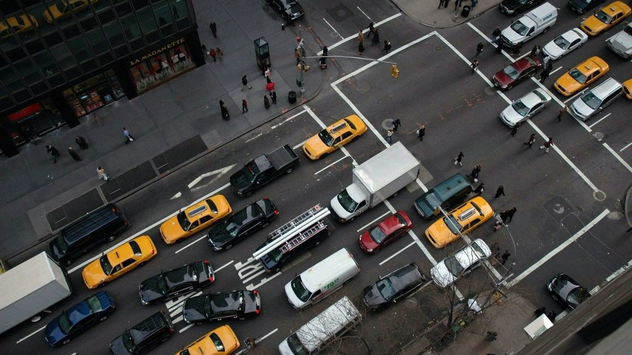 Congested Streets of Manhattan