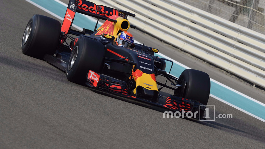 Max Verstappen, Red Bull Racing testing the new 2017 Pirelli tyres