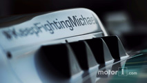 Mercedes AMG F1 W05 with a message of support for Michael Schumacher (GER)