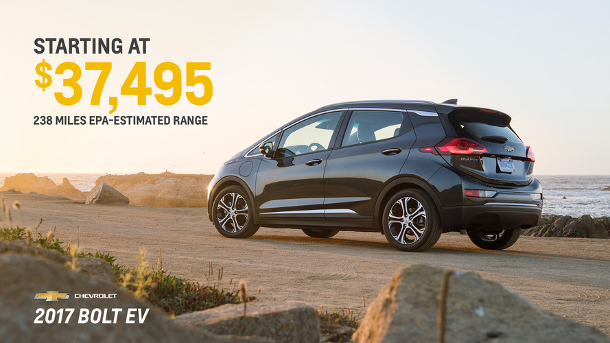 2017 Chevy Bolt officially priced from $37,495