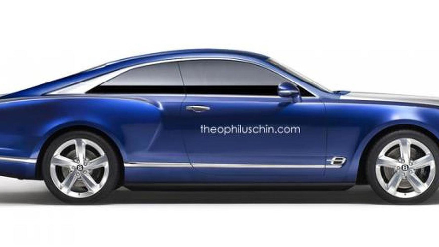 Bentley Grand Coupe rendered as a modern-day Brooklands