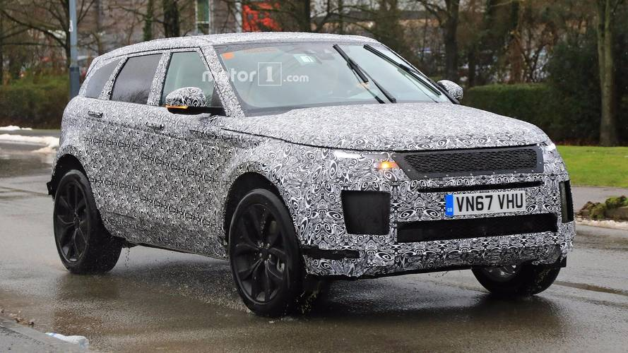 2019 range rover evoque spy photos photos. Black Bedroom Furniture Sets. Home Design Ideas