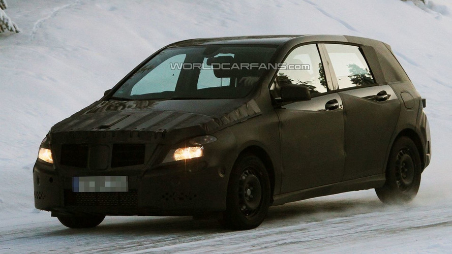 2012 Mercedes B-Class Caught Winter Testing