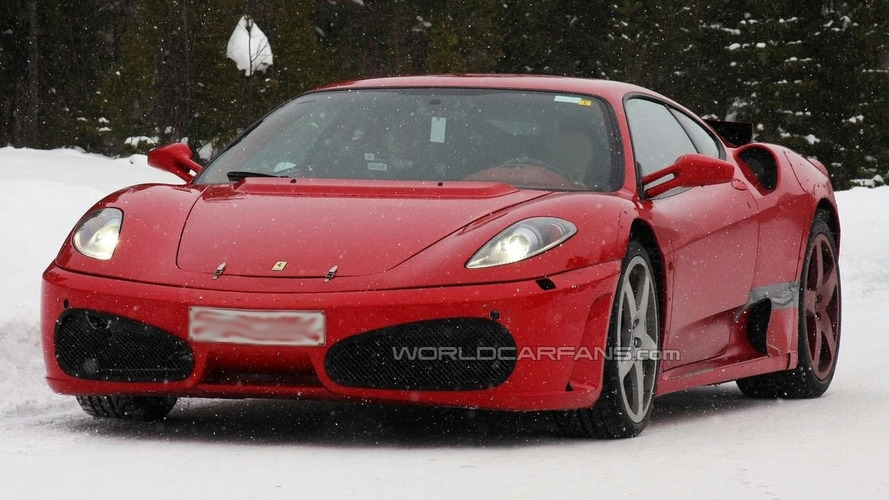 Ferrari F450 Test Mule Spied Up Close During Winter Testing