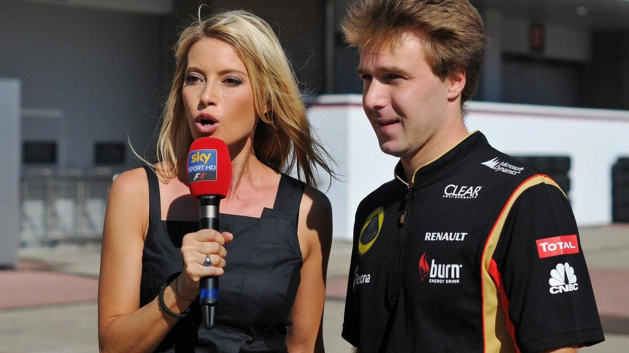 Davide Valsecchi with Sarah Winkhaus Sky Sports F1 Presenter 04.10.2013 Korean Grand Prix