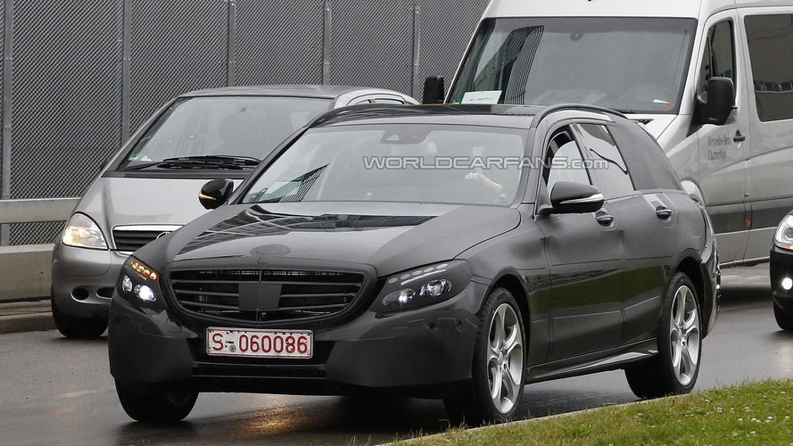 2015 Mercedes C-Class Estate spied in Germany
