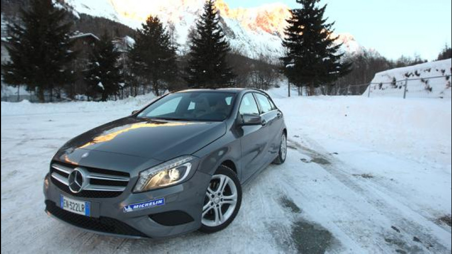 Michelin Alpin e Mercedes Classe A: provate a fermarli