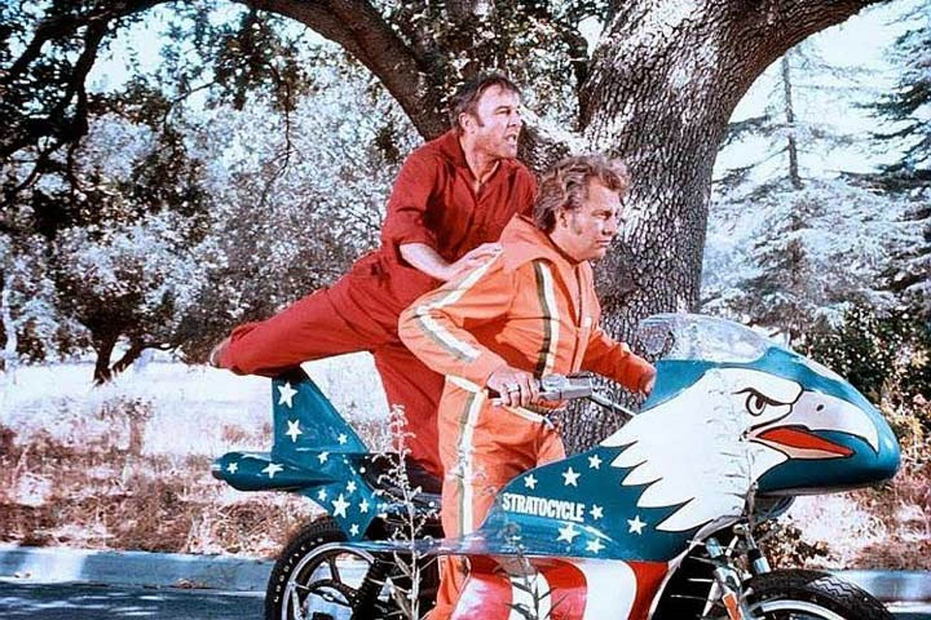 1977 Viva Knievel Doing Daredevil Stunt Evel Harley: The Rare Evel Knievel Stratocycle Goes To Auction, And It