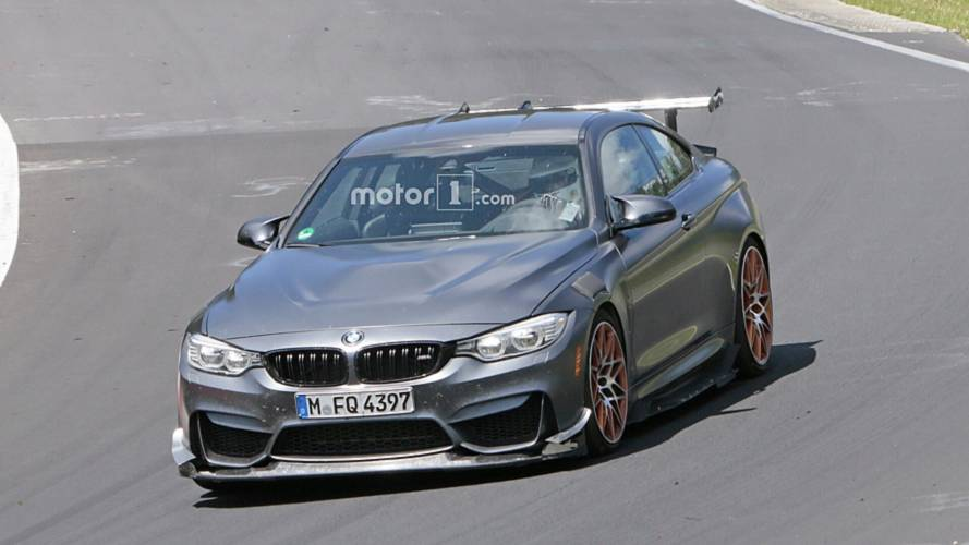 Possible BMW M4 CSL Spied In Action On Track And During Refueling