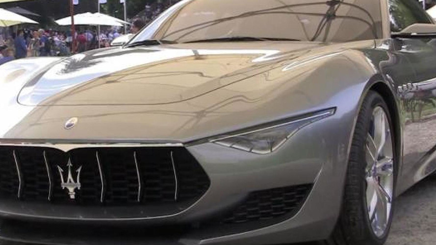 Maserati Alfieri concept filmed in action for the first time