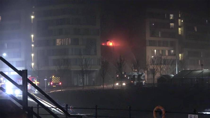 Massive Fire At Parking Garage In Liverpool Obliterates 1,400 Cars