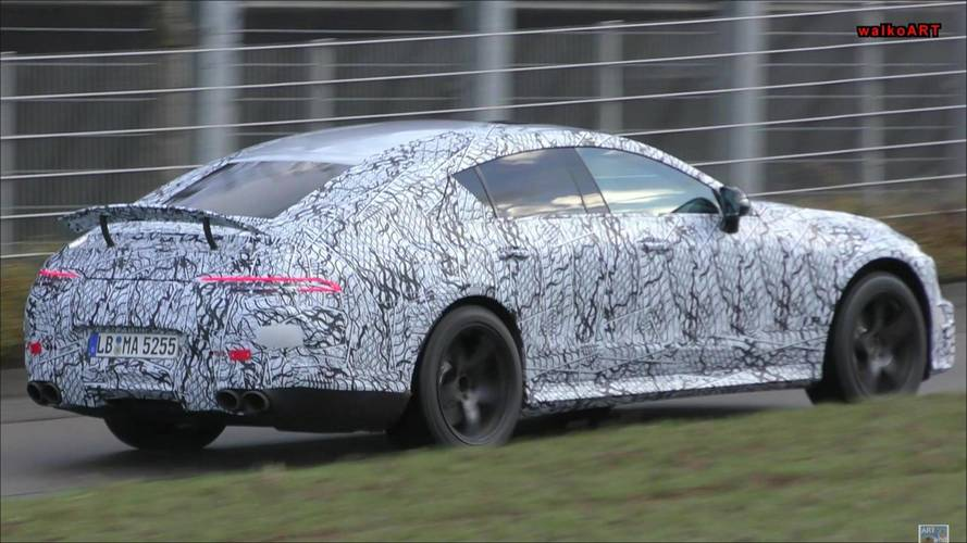 Mercedes-AMG GT Sedan Spied Flaunting Rear Spoiler In New Footage
