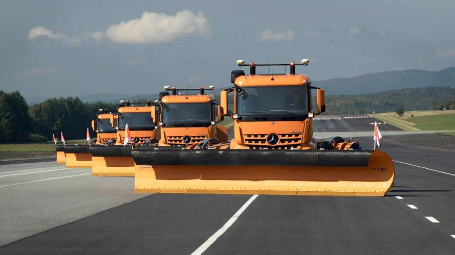 Mercedes-Benz Autonomous Snow Plows