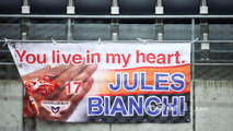 Banners of tribute for Jules Bianchi